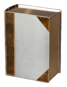 Stainless Book Bronze Cremation Urn