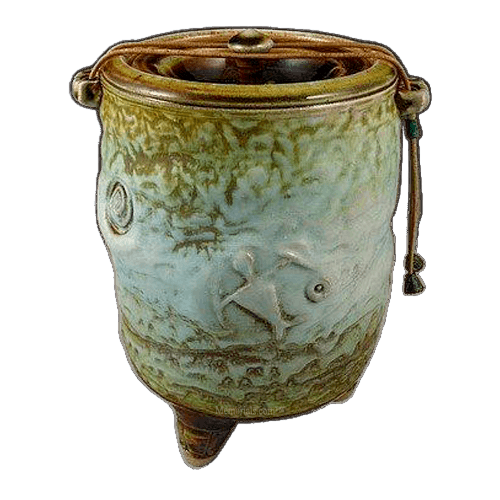 Tahiti Gem Soda Fired Urn