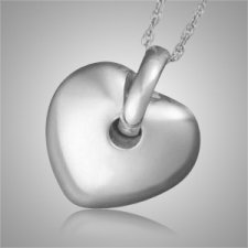 Puff Heart Pet Cremation Jewelry