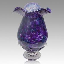 Purple Fantasy Glass Cremation Urns