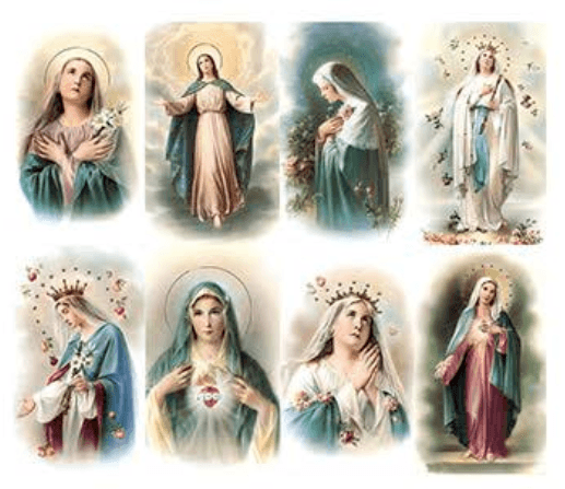 Queen Of Heaven Prayer Cards