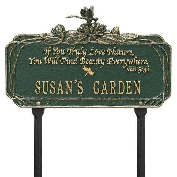 Dragonfly Beauty Green Dedication Plaque