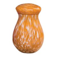 Pet Orange Large Glass Urn