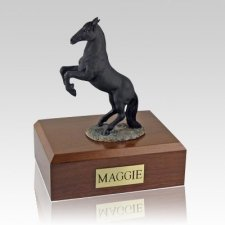 Black Rearing Horse Cremation Urns