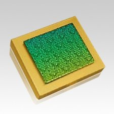 Radiance Square Gold Keepsake Urn