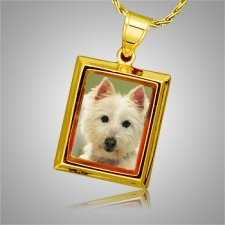Dog Square Picture Cremation Pendant II