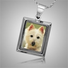 Dog Square Picture Cremation Pendant