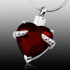 Red Heart Cremation Jewelry