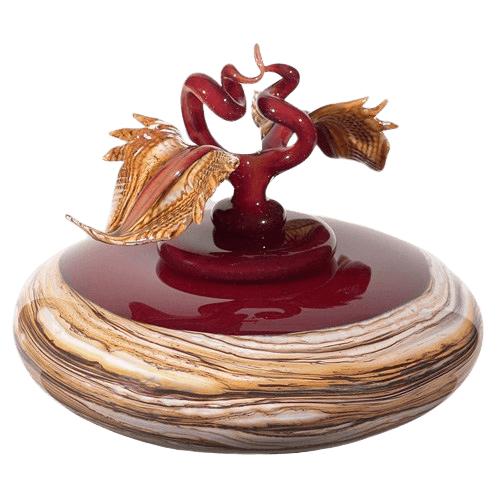 Strata Red Art Cremation Urn