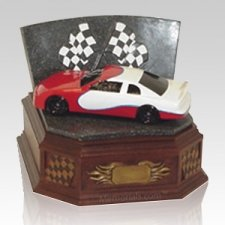 Red Race Car Cremation Urn
