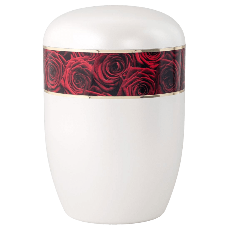 Red Roses Biodegradable Urn
