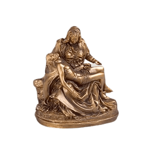 Gold Pieta Small Religious Cremation Urn