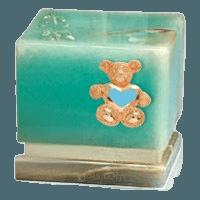 Innocence Onyx Teddy Blue Heart Cremation Urn