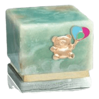 Innocence Light Onyx Teddy with Balloons Cremation Urn