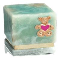 Innocence Light Onyx Teddy Pink Heart Cremation Urn