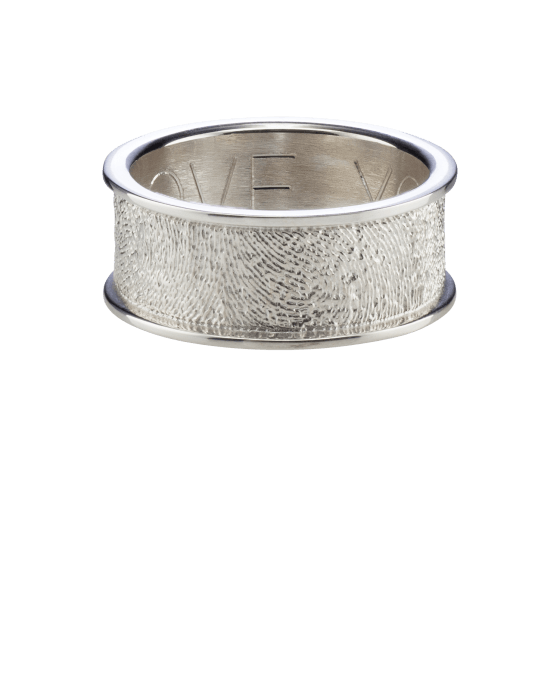 Heirloom Ring Fingerprint Sterling Keepsake