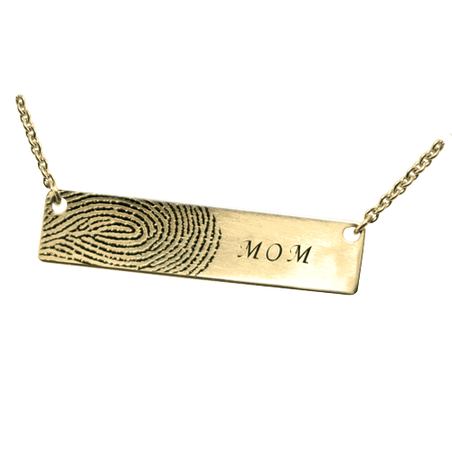 Remembrance Print 14K Gold Keepsake