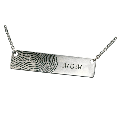 Remembrance Print 14K White Gold Keepsake