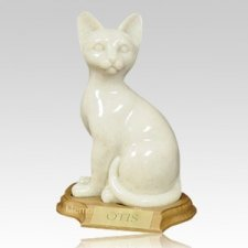 Feline Sitting Cat Cremation Urn