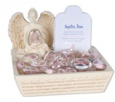 Awareness Pink Comfort Stone Keepsake Set