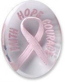 Awareness Pink Faith Hope Courage Ribbon Comfort Stones