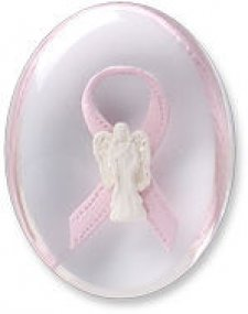Awareness Pink Grace Angel Ribbon Comfort Stone