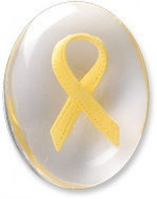 Awareness Yellow Ribbon Comfort Stones