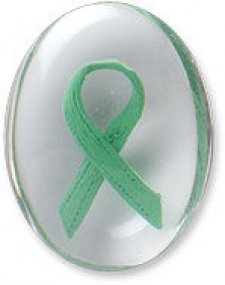 Awareness Green Ribbon Comfort Stone