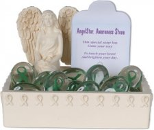 Awareness Green Comfort Stone Keepsake Set