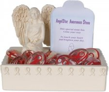 Awareness Red Comfort Stone Keepsake Set