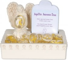 Awareness Yellow Comfort Stone Keepsake Set
