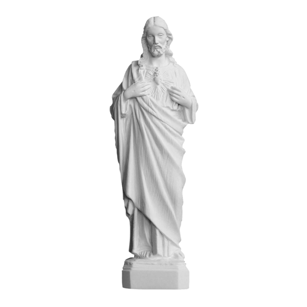 Giving Heart Of Christ Marble Statue