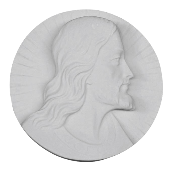 Christ Medallion Marble Statue