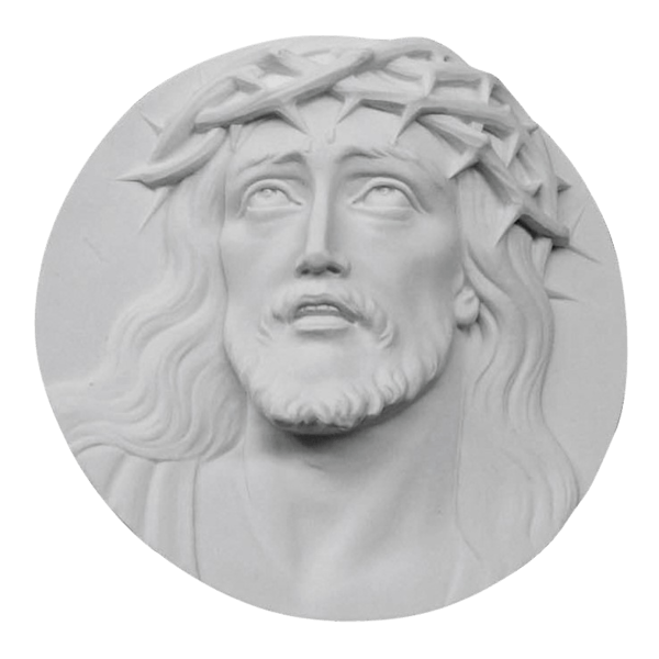 Searching Christ Medallion Marble Statue
