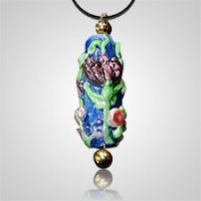 Rose Bouquet Cremation Ash Pendant II