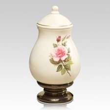 Pink Rose Large Ceramic Urn