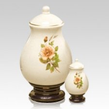 Yellow Rose Ceramic Cremation Urns