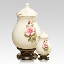 Pink Rose Ceramic Cremation Urns
