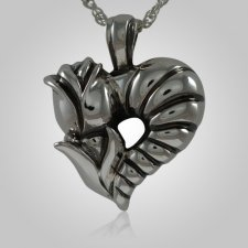 Rose Heart Keepsake Pendant III