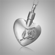 Stemrose Heart Keepsake Pendant