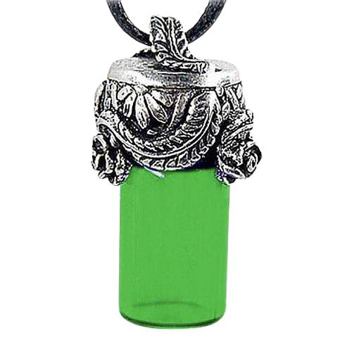Roses & Leaves Green Cremation Necklace