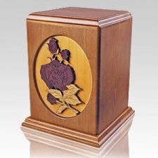 Rose Stem Wood Cremation Urn