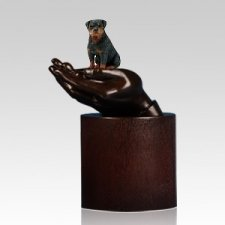 Rottweiller Hands Dog Cremation Urn