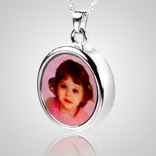 Round Picture Cremation Pendant III