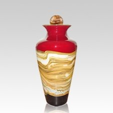 Celestial Ruby Art Medium Urn