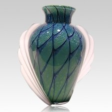 Dolce Weave Glass Cremation Urn