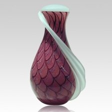 Domenico Glass Cremation Urn