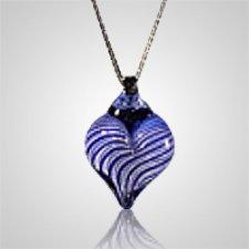 Violet Heart Cremation Ash Pendant