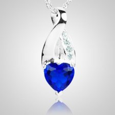 Sapphire Crystal Eternity Keepsake Pendant III
