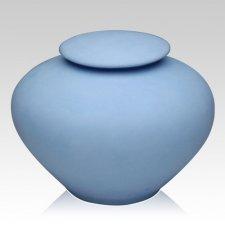 Blue Sea Companion Porcelain Clay Urn